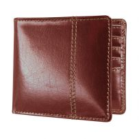Dulwich Designs 70886 Chestnut Brown Wallet With Tan Lining